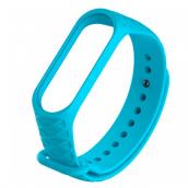 Силиконовый ремешок для Xiaomi Mi Band 3 Ребристый Голубой