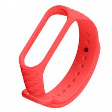 Силиконовый ремешок для Xiaomi Mi Band 3 Ребристый Красный