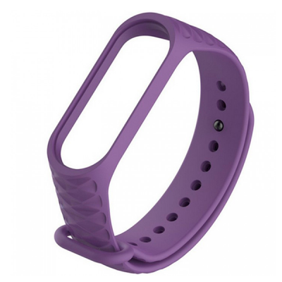 Силиконовый ремешок для Xiaomi Mi Band 3 Ребристый Фиолетовый