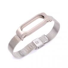 Металлический браслет для Xiaomi Mi Band 3 Silver