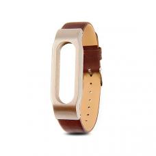 Кожаный браслет для Xiaomi Mi Band 3 Brown