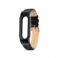 Кожаный браслет для Xiaomi Mi Band 3 Black