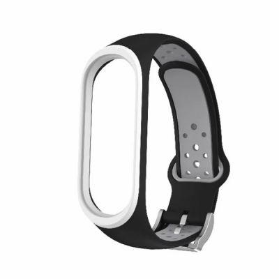 Силиконовый ремешок для Xiaomi Mi Band 4 Черный