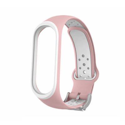 Силиконовый ремешок для Xiaomi Mi Band 4 Розовый