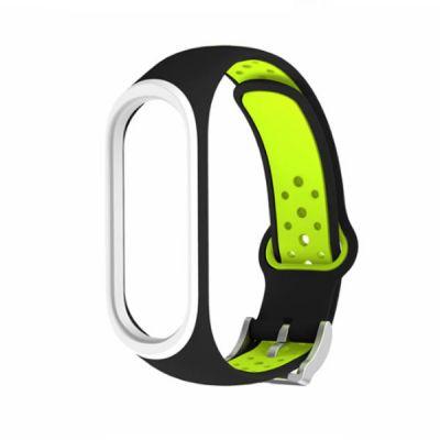 Силиконовый ремешок для Xiaomi Mi Band 4 Зеленый
