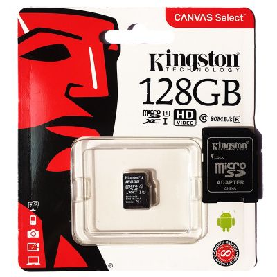 Карта памяти Kingston MicroSDHC 128Gb Class 10