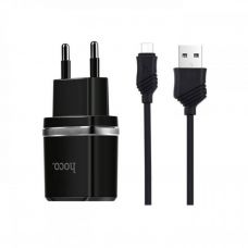 Сетевое зарядное устройство 2 в 1 Hoco C12 для micro USB (Черный)