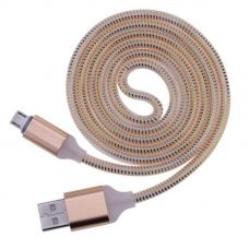 Кабель microUSB Led Gold