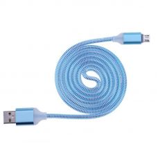 Кабель microUSB Led Blue