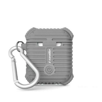 Силиконовый чехол для AirPods i-Smile Silicone Protective Case Grey