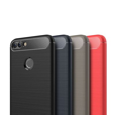 Карбоновый Противоударный чехол для Huawei P Smart