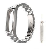 Сменный браслет для Mi Band 4 металлический с иглой (Серебряный)