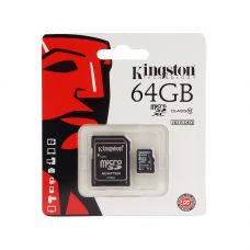 Карта памяти Kingston MicroSDHC 64GB Class 10