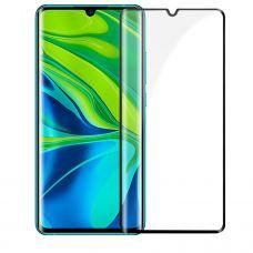 Защитное стекло полное покрытие для Xiaomi Mi10 Черное
