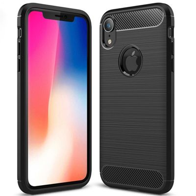 Карбоновый чехол для iPhone XR Черный