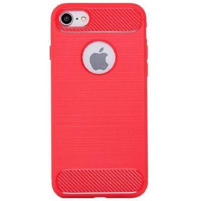 Карбоновый чехол для iPhone 7/8 Красный