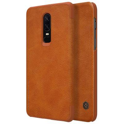 Nillkin Qin Case для OnePlus 6 Brown (Коричневый)