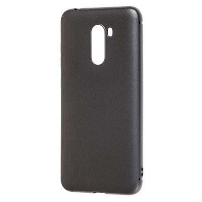Чехол силиконовый матовый для Xiaomi Pocophone F1 (Черный)