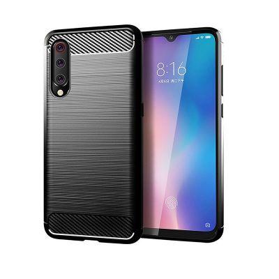 Карбоновый чехол для Xiaomi Mi 9 Черный