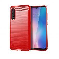 Карбоновый чехол для Xiaomi Mi 9 Красный