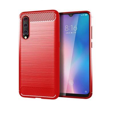 Карбоновый чехол для Xiaomi Mi 9 SE Красный