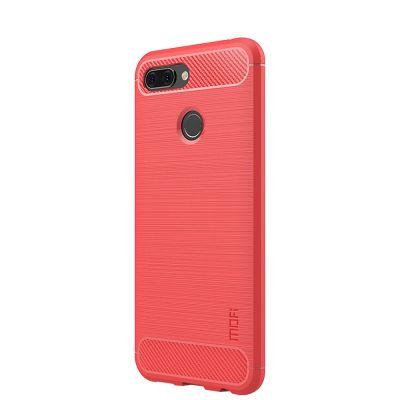 Карбоновый чехол для Xiaomi Mi 8 Lite Красный