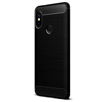 Карбоновый чехол для Xiaomi Redmi 6 Pro / Mi A2 Lite Черный