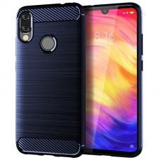 Карбоновый чехол для Redmi Note 7 Синий