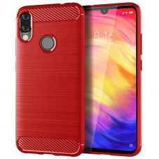 Карбоновый чехол для Redmi Note 7 Красный