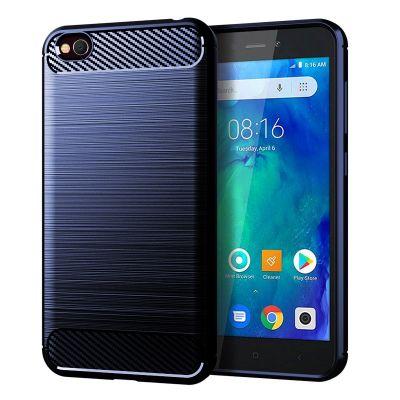 Карбоновый чехол для  Xiaomi Redmi 6A Синий