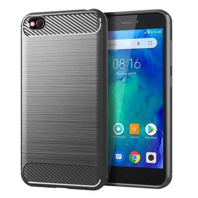 Карбоновый чехол для  Xiaomi Redmi 6A Серый