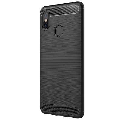 Карбоновый чехол для Xiaomi Mi Max 3 Серый