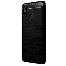 Карбоновый чехол для Xiaomi Mi Max 3 Черный