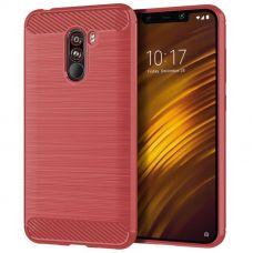 Карбоновый чехол для Xiaomi Pocophone F1 Красный