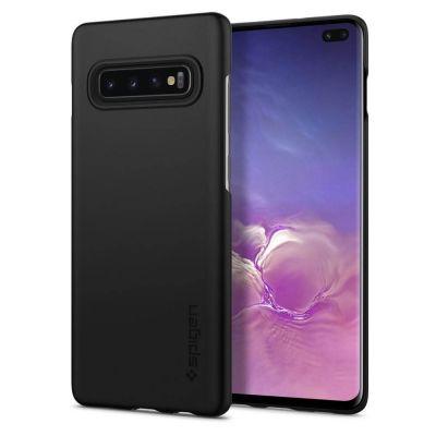 Силиконовый чехол матовый для Samsung Galaxy S10+ Черный