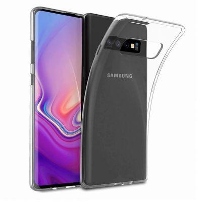 Силиконовый чехол прозрачный для Samsung Galaxy S10+