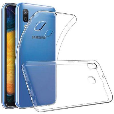 Чехол силиконовый прозрачный для Samsung Galaxy A30