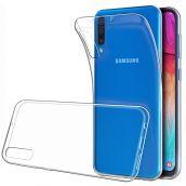 Чехол силиконовый прозрачный для Samsung Galaxy A50