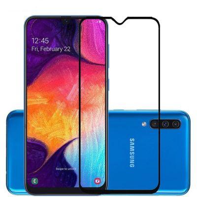Защитное стекло полное покрытие Samsung Galaxy A50 Черный