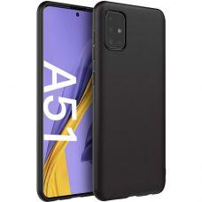 Силиконовый чехол для Samsung Galaxy A51 Черный