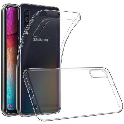 Чехол силиконовый прозрачный для Samsung Galaxy A70