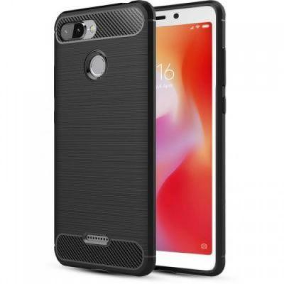 Карбоновый чехол для Xiaomi Redmi 6 Черный