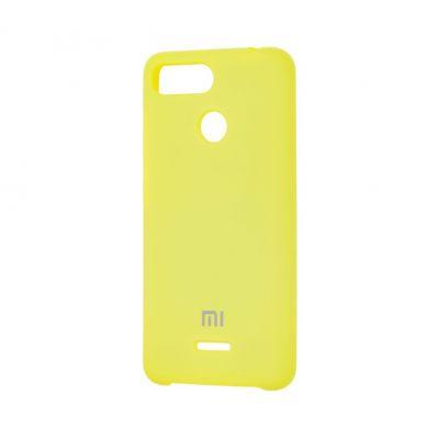 Клип-кейс Soft Touch для  Xiaomi Redmi 6 Желтый