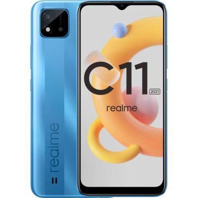 Смартфон Realme C11 2021 2/32Gb Lake Blue (Голубое Озеро)