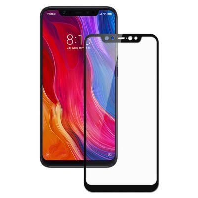 Защитное стекло Полное покрытие для Xiaomi Mi 8 Черное