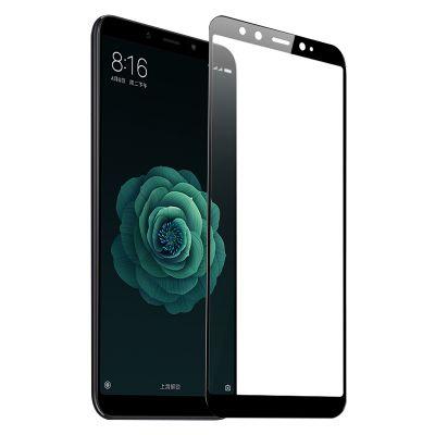 Защитное стекло на полный экран для Xiaomi Mi 6x/A2 Черное